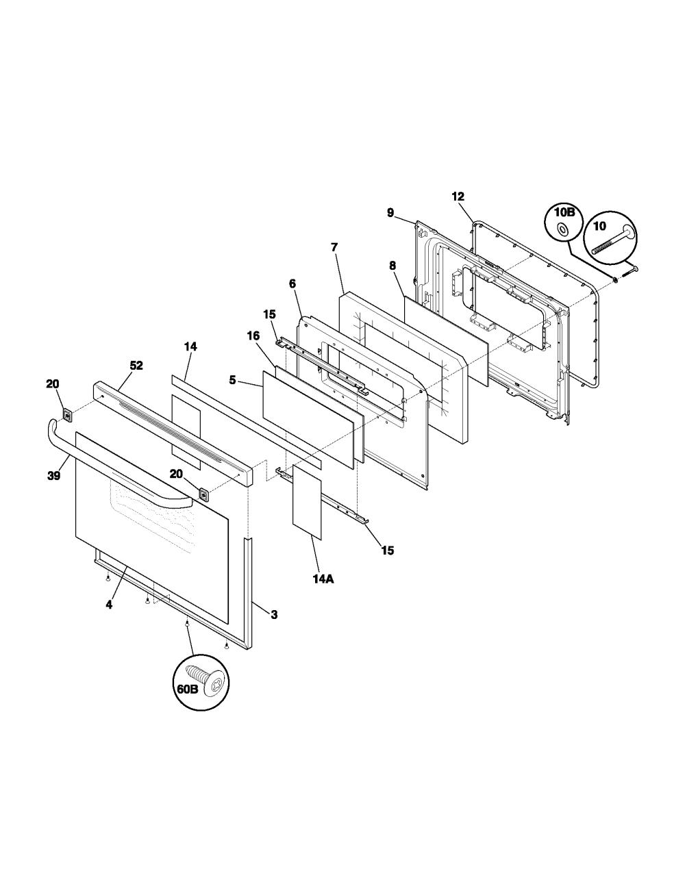 medium resolution of fef352asf electric range door parts diagram wiring schematic parts diagram
