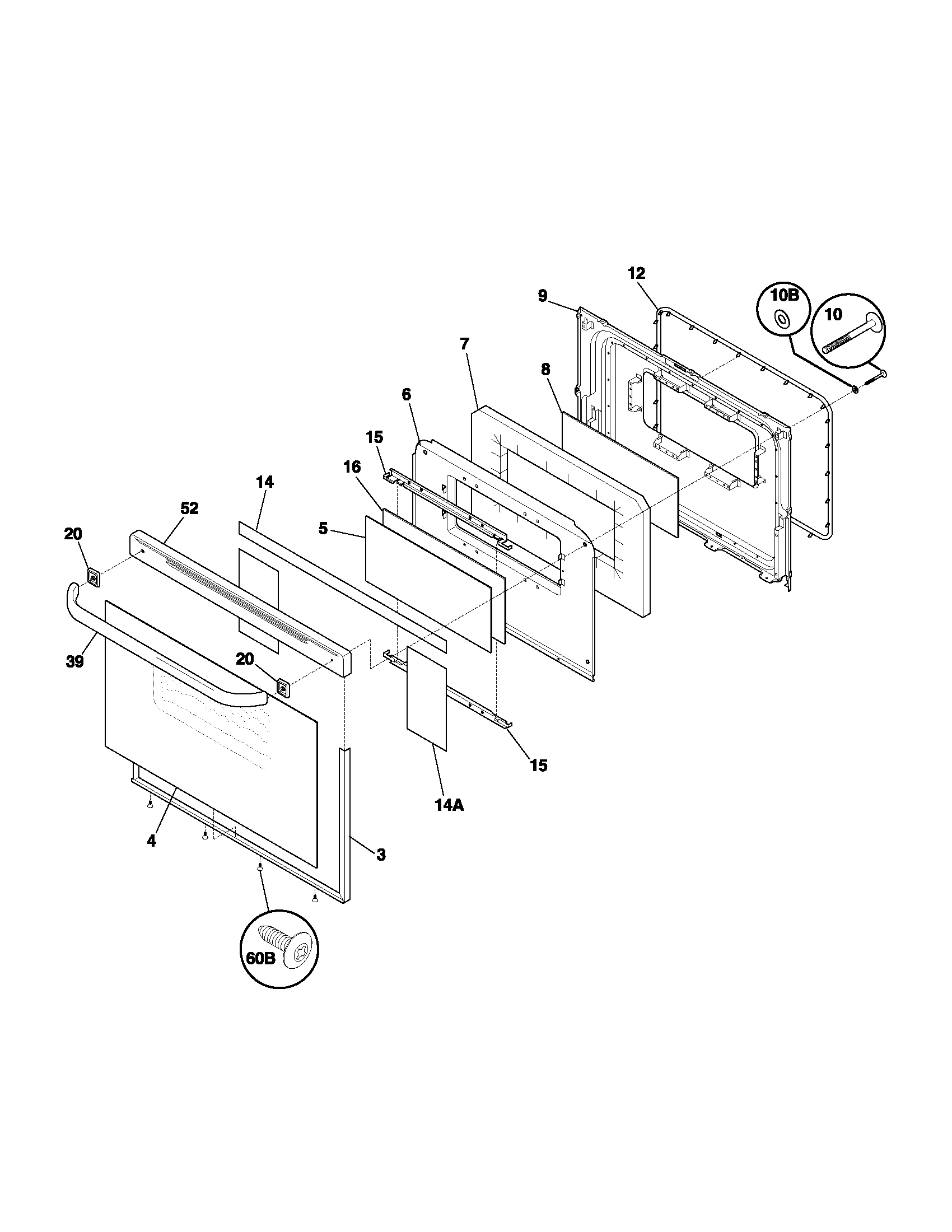 hight resolution of fef352asf electric range door parts diagram wiring schematic parts diagram