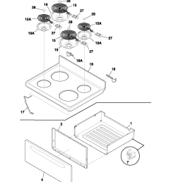 fef352asf electric range top drawer parts diagram [ 1700 x 2200 Pixel ]