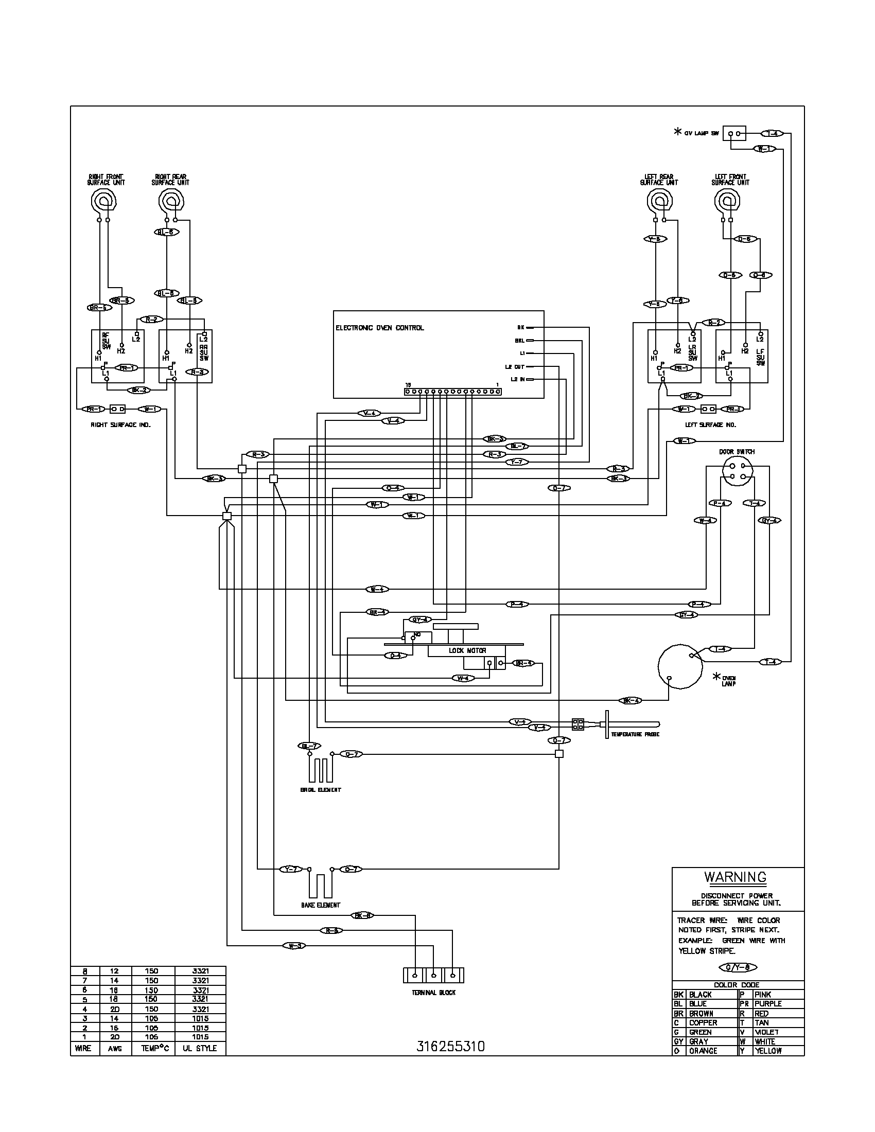 fef352asf electric range wiring schematic parts diagram