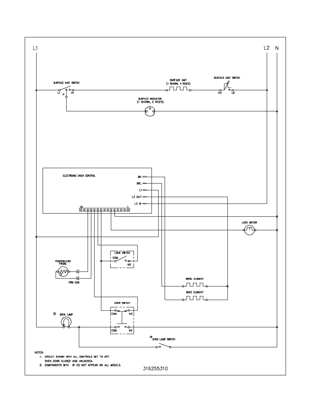 medium resolution of fef352asf electric range wiring schematic parts diagram
