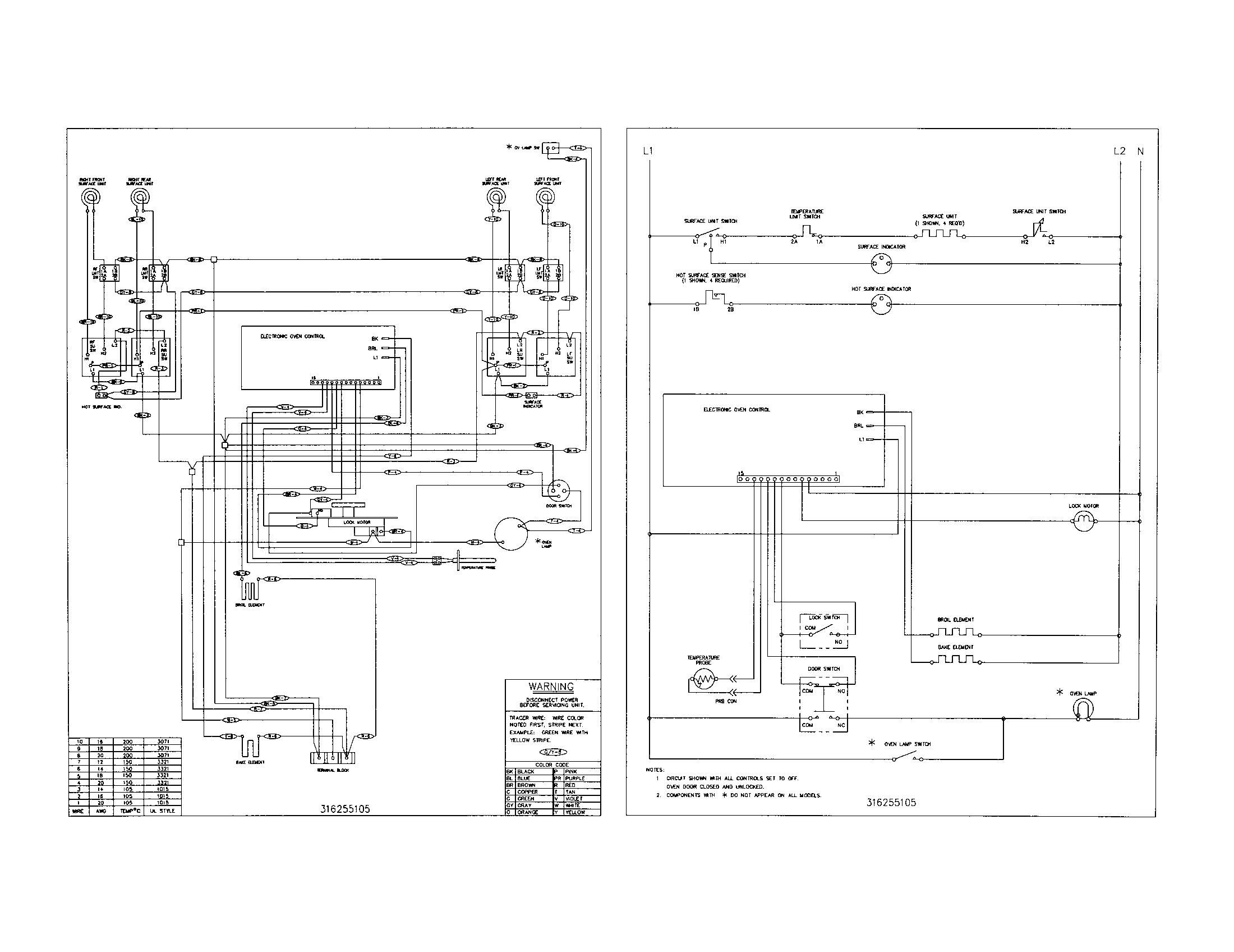 electric range breaker wiring diagram