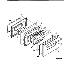 fef389wfcd electric range door parts diagram wiring diagram parts diagram [ 832 x 1083 Pixel ]