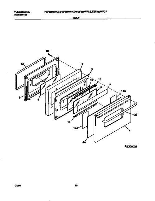 small resolution of fef389wfcd electric range door parts diagram wiring diagram parts diagram