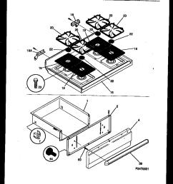 fgf353bawa range gas cooktop and drawer parts diagram [ 880 x 1120 Pixel ]