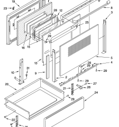 glp84800 free standing electric range door and drawer parts diagram whirlpool  [ 3348 x 4623 Pixel ]