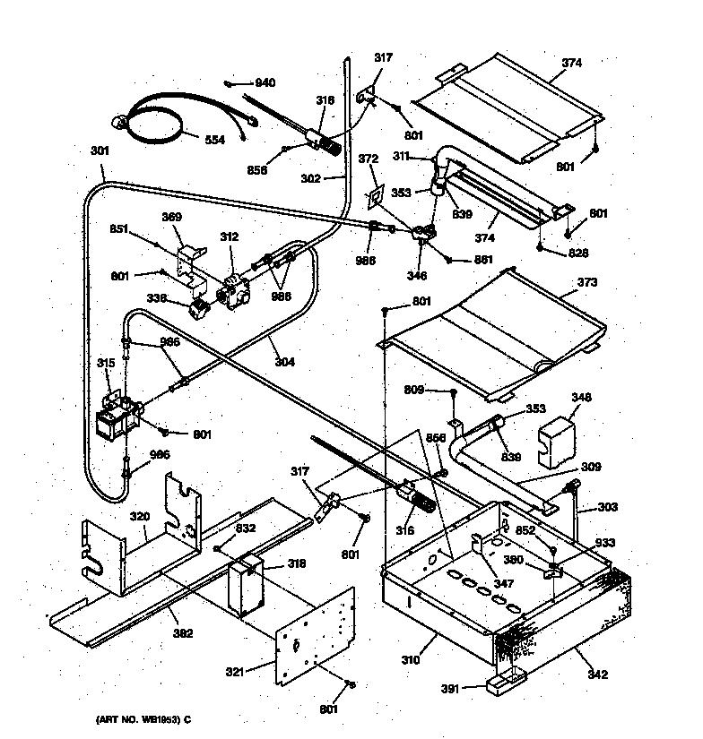 general electric oven wiring diagram air compressor hook up diagrams jgsp31wetww gas range timer stove clocks and burner parts
