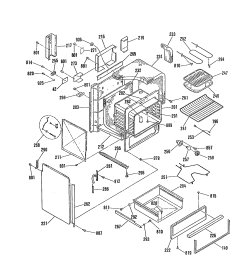 jsp28gp range oven body insulation top and sides parts diagram general electric  [ 1696 x 2200 Pixel ]