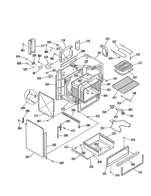 small resolution of jsp28gp range oven body insulation top and sides parts diagram general electric