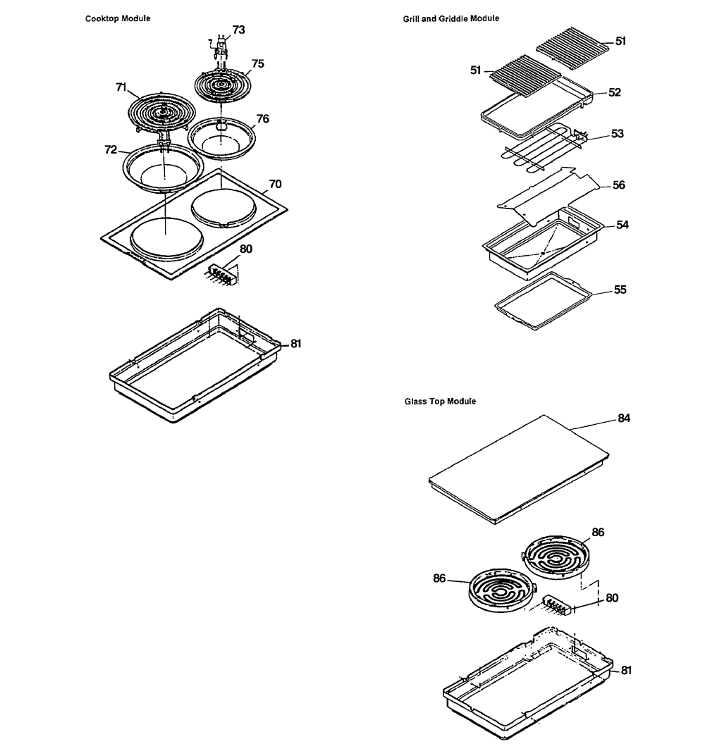 medium resolution of jsp69wvww 30 slide in downdraft range accessories parts diagram