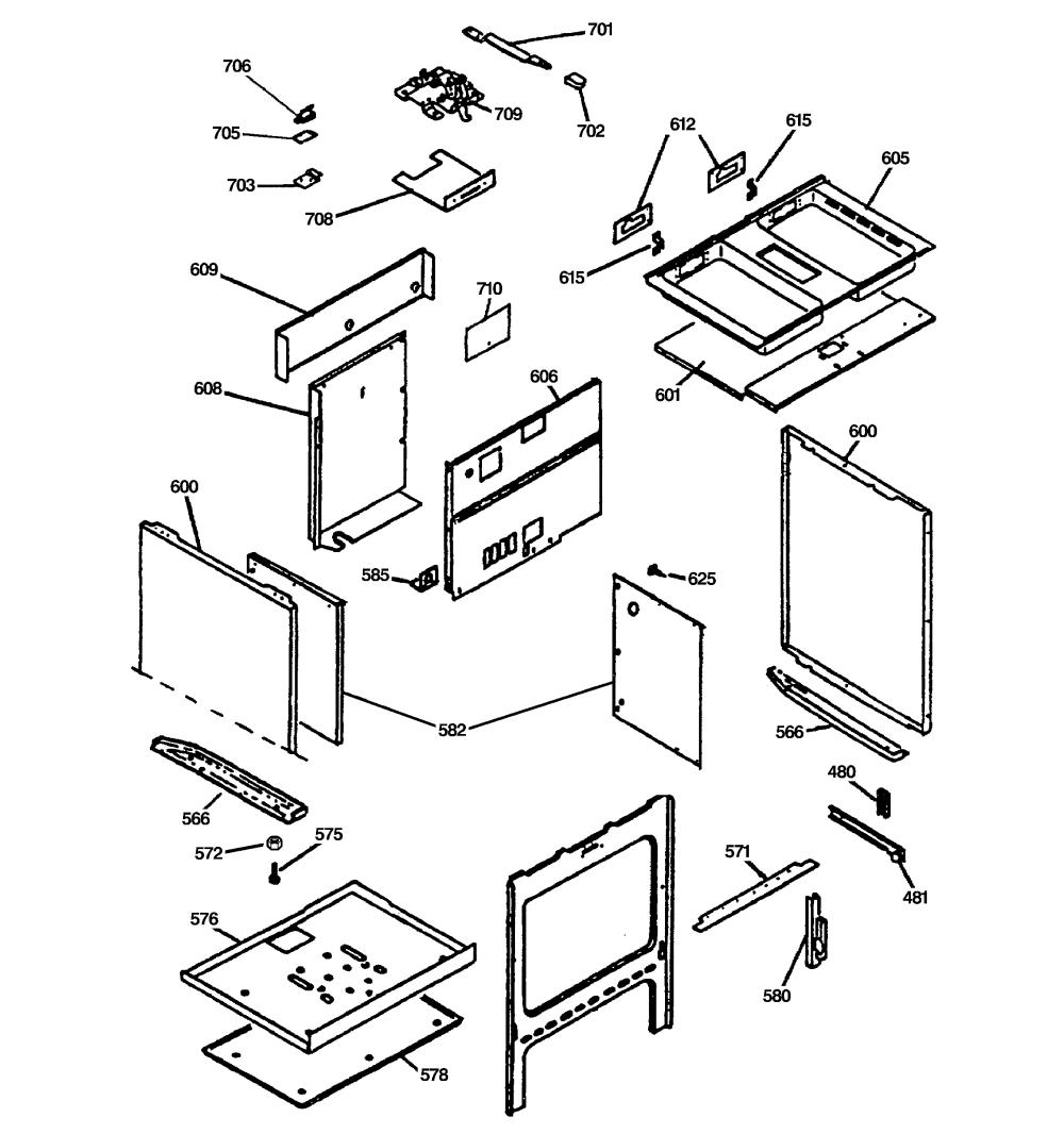 medium resolution of jsp69wvww 30 slide in downdraft range lower oven cabinet assembly parts diagram
