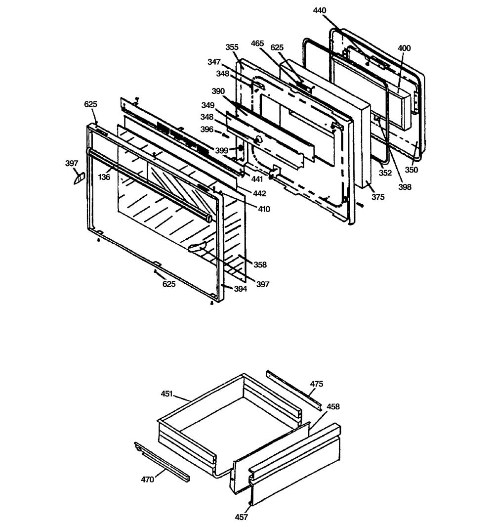 medium resolution of jsp69wvww 30 slide in downdraft range oven door drawer parts diagram