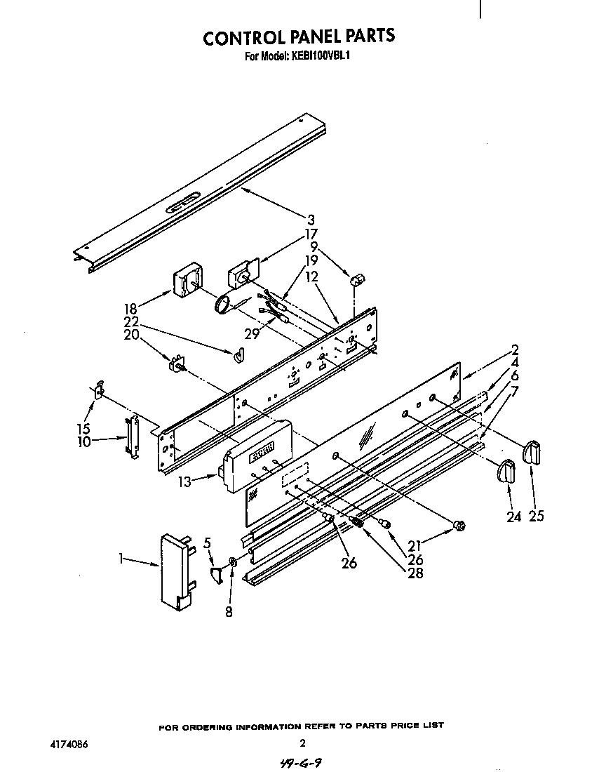 medium resolution of kebi100vbl electric built in oven control panel parts diagram