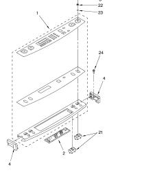 kerc607hbs4 electric freestanding range control panel parts diagram [ 3348 x 4623 Pixel ]