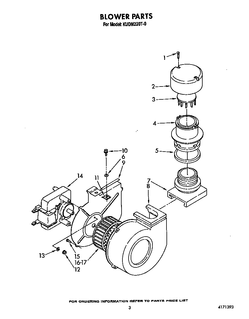hight resolution of kudm220t0 dishwasher blower parts diagram