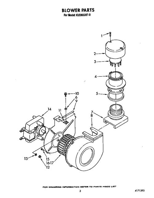 small resolution of kudm220t0 dishwasher blower parts diagram