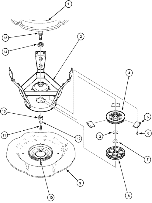 small resolution of lwa40aw2 top loading washer weldment bearing assy and brake pulley parts diagram