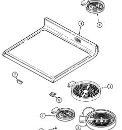 mer6772bcb range top assembly parts diagram [ 1825 x 2197 Pixel ]