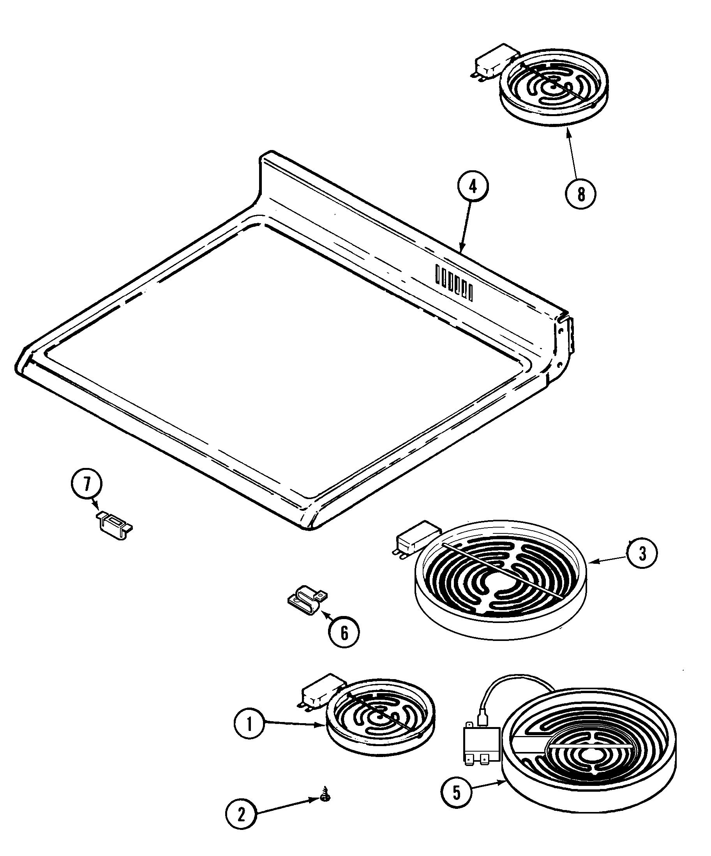 hight resolution of mer6772bcb range top assembly parts diagram