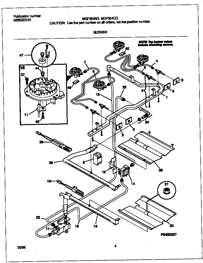 Gas Oven Parts Diagram