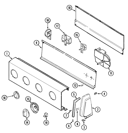 small resolution of pav2000aww washer control panel parts diagram
