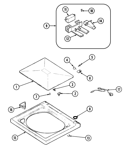 small resolution of pav2000aww washer top parts diagram