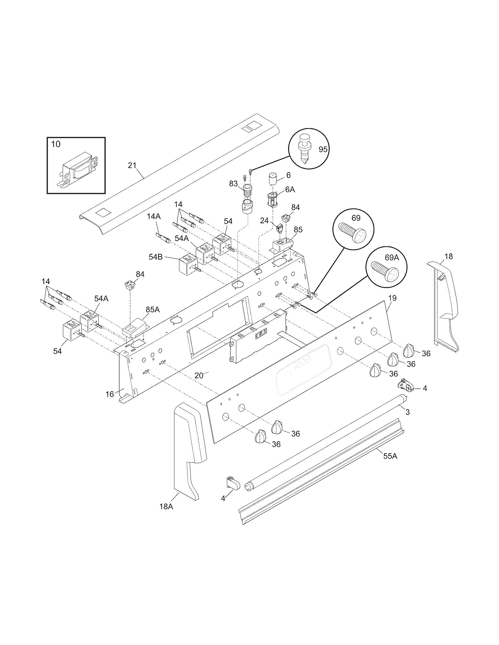 Electrolux Pglef385cb1 Electric Range Timer