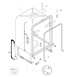 pldb999cc0 dishwasher tub parts diagram [ 1700 x 2200 Pixel ]