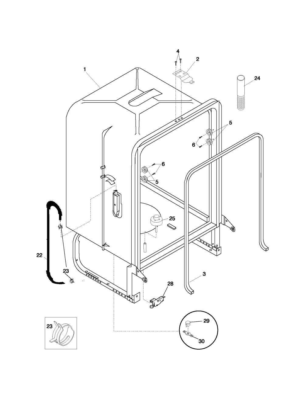 medium resolution of pldb999cc0 dishwasher tub parts diagram