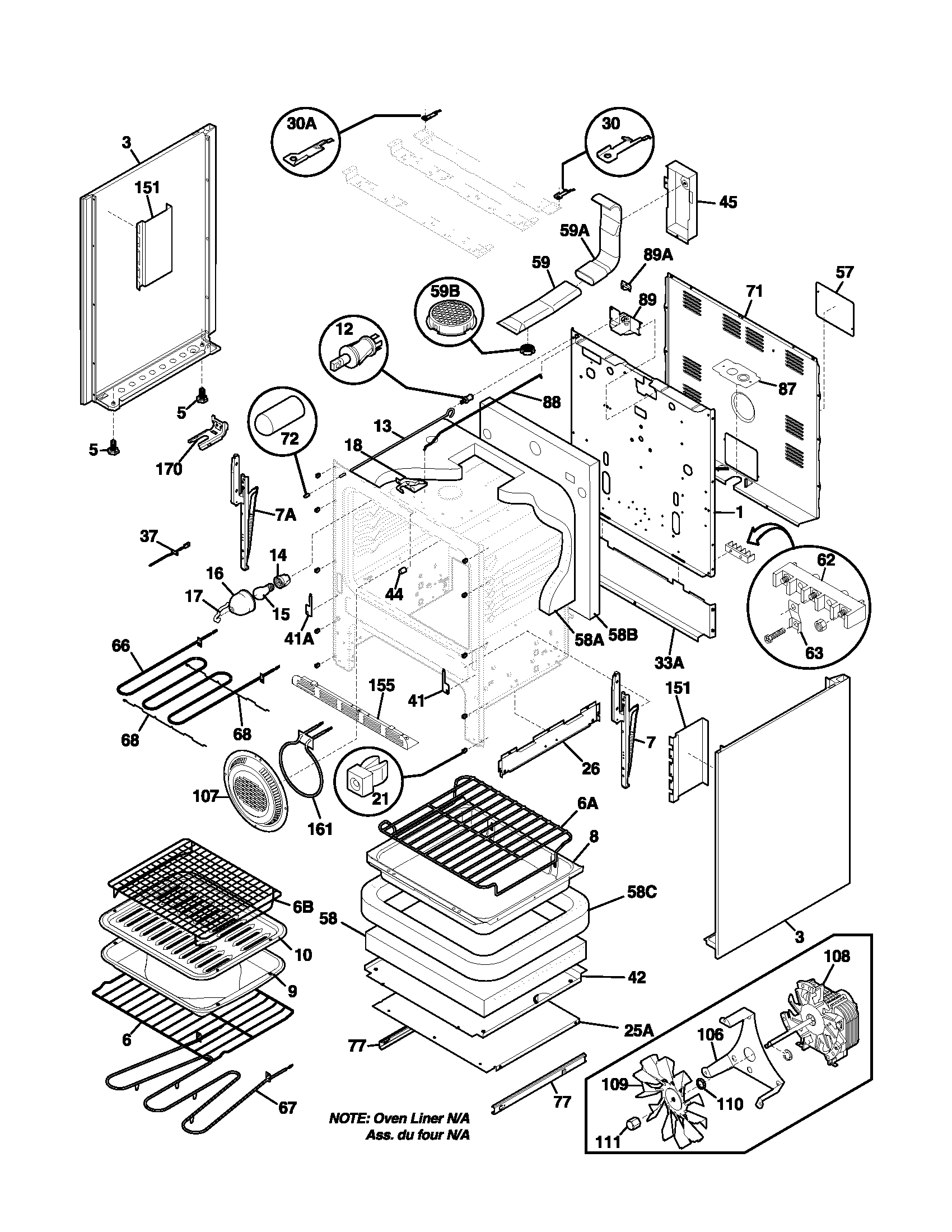 hight resolution of plef398aca electric range body parts diagram