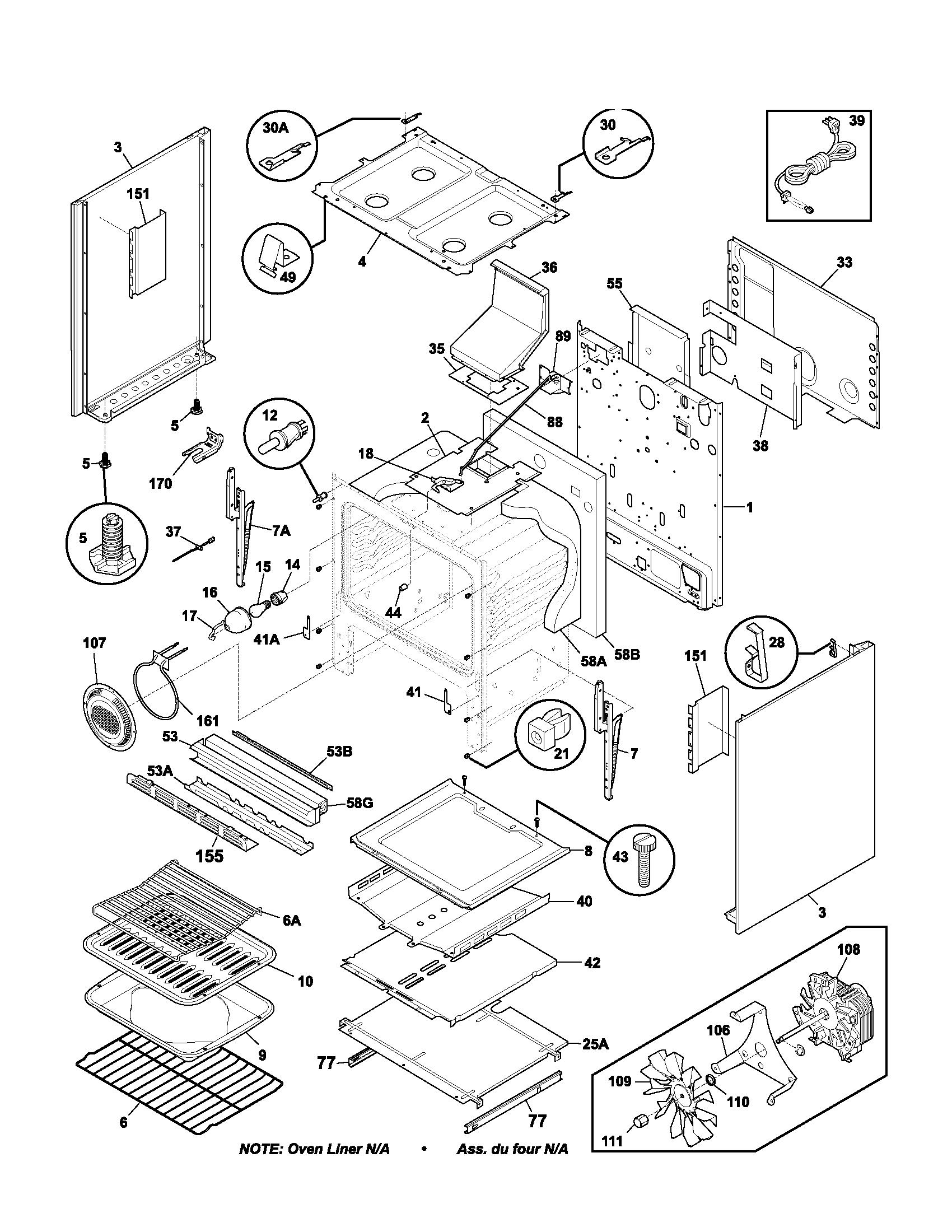 hight resolution of plgf389ccb gas range body parts diagram