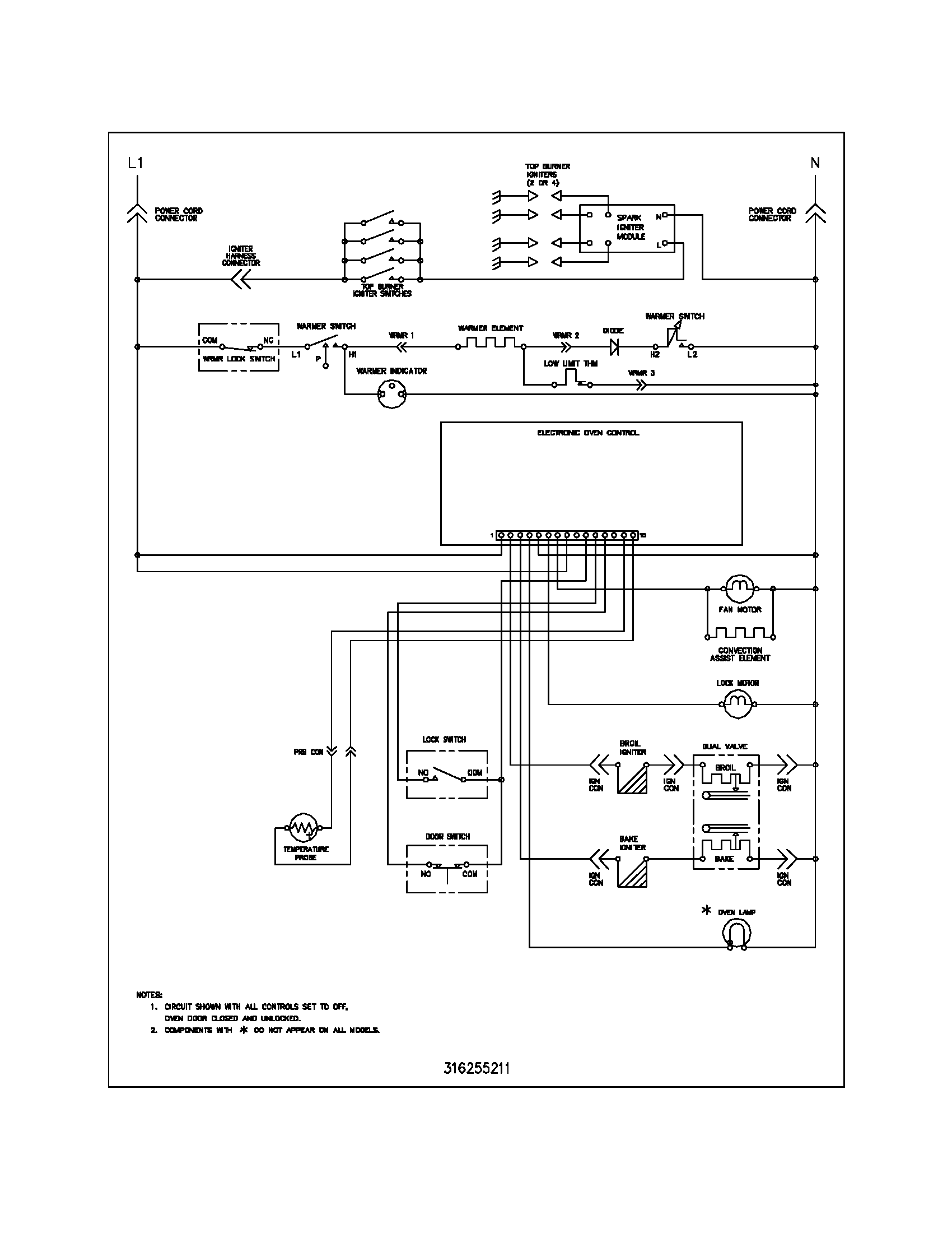 hight resolution of kitchen stove wiring diagram