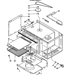 rm288pxv electric built in oven with microwave microwave and stirrer parts diagram [ 864 x 1093 Pixel ]