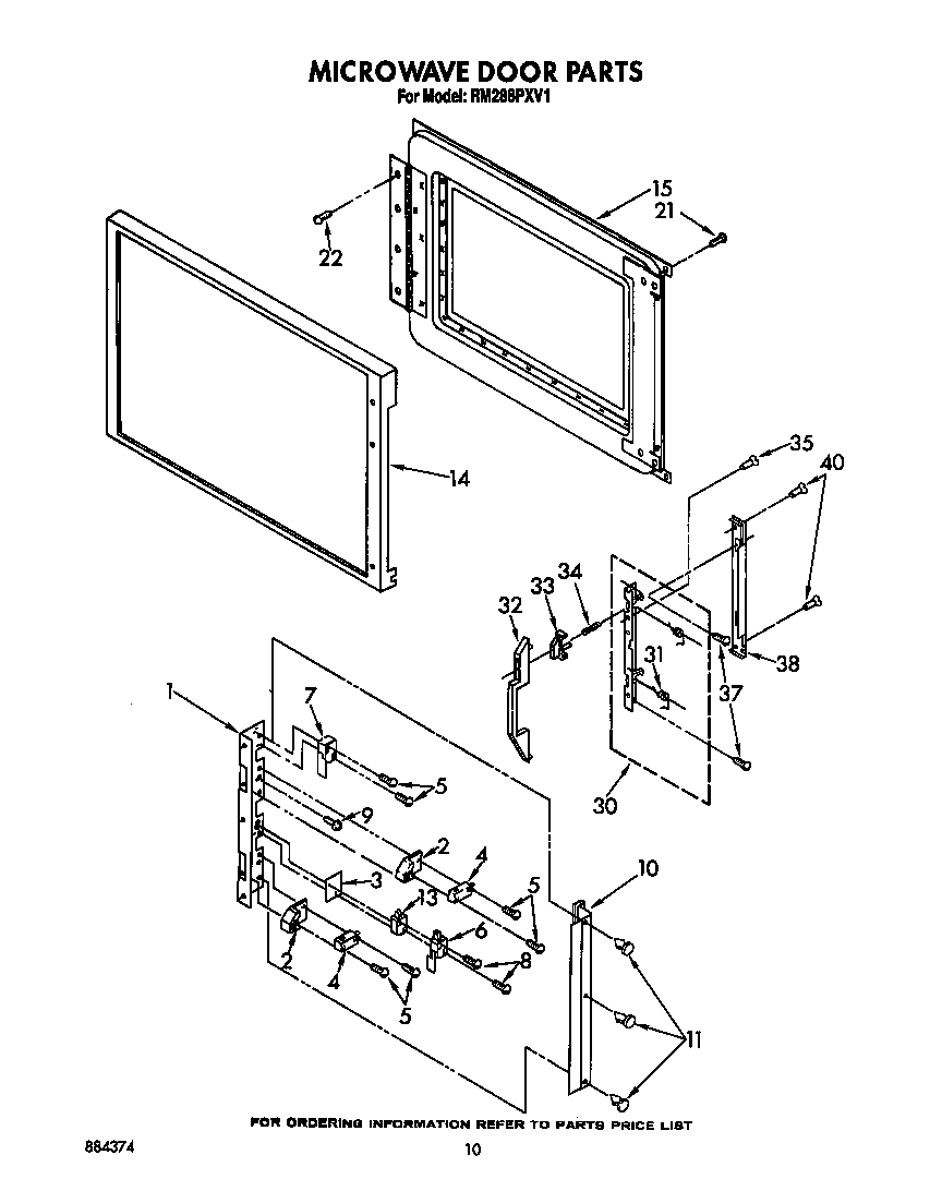 hight resolution of rm288pxv electric built in oven with microwave microwave door parts diagram