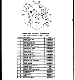 rsd30 gas ranges lower oven electrical components parts diagram [ 912 x 1130 Pixel ]
