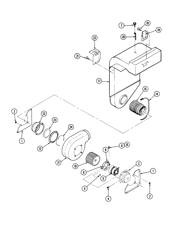 medium resolution of s136 range blower motor parts diagram