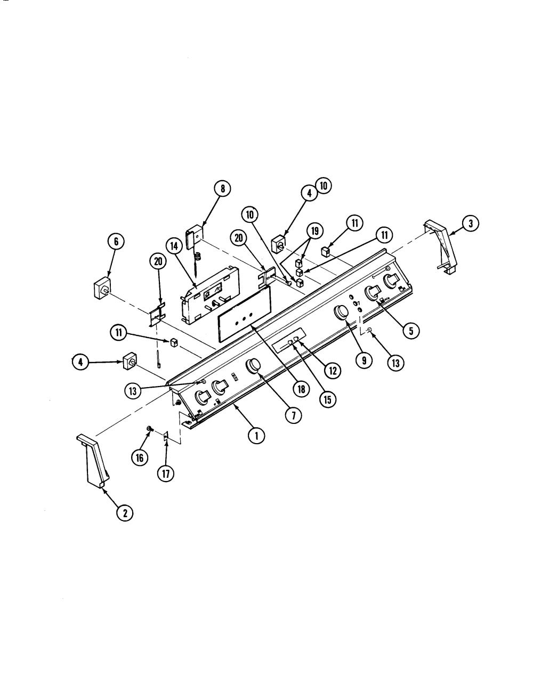 medium resolution of s136 range control panel parts diagram
