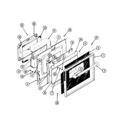 s136 range door parts diagram [ 2520 x 3300 Pixel ]