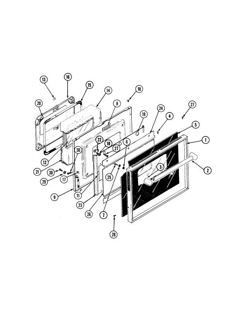 small resolution of s136 range door parts diagram