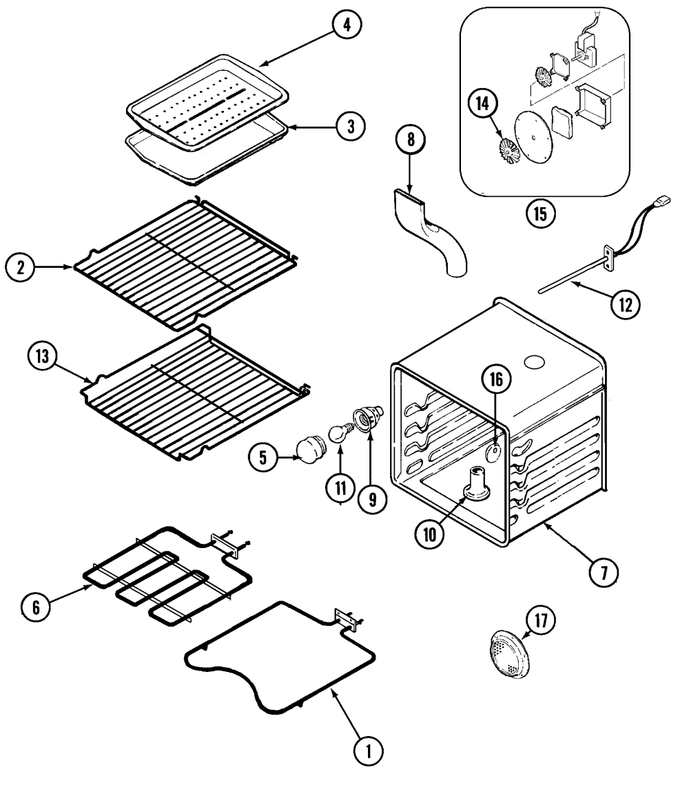 medium resolution of sce30600b electric slide in range oven parts diagram
