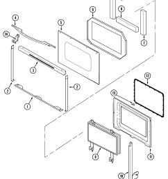 sve47100w electric slide in range door parts diagram [ 2109 x 2485 Pixel ]