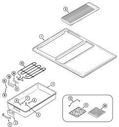 sve47100w electric slide in range top assembly parts diagram [ 2221 x 2425 Pixel ]