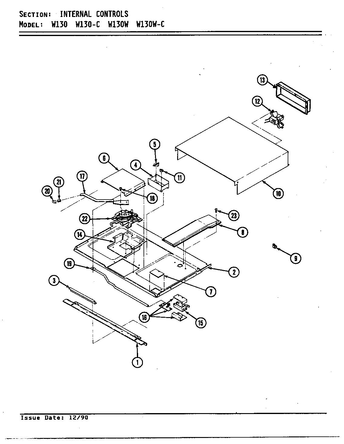internal controls parts diagram