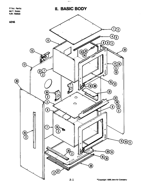 small resolution of w246 electric wall oven basic body w246 w246 parts diagram