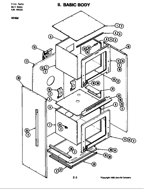 small resolution of w246 electric wall oven basic body w246w parts diagram