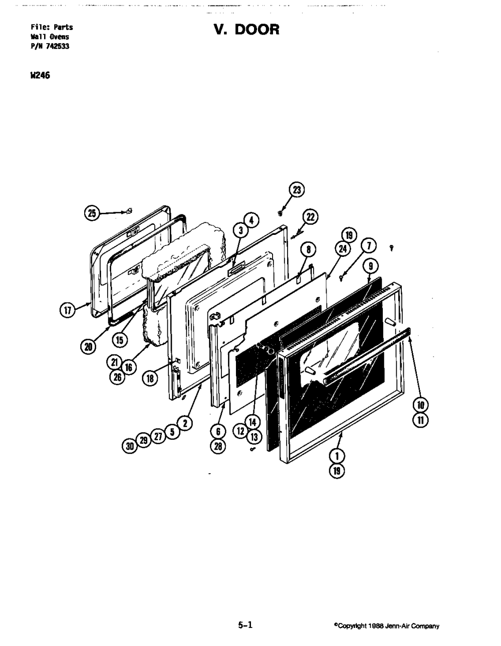 medium resolution of w246 electric wall oven door w246 w246 parts diagram