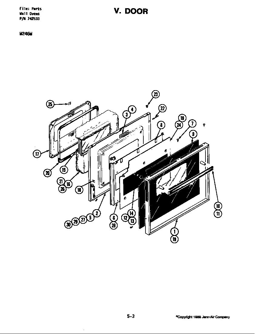 medium resolution of w246 electric wall oven door w246w parts diagram
