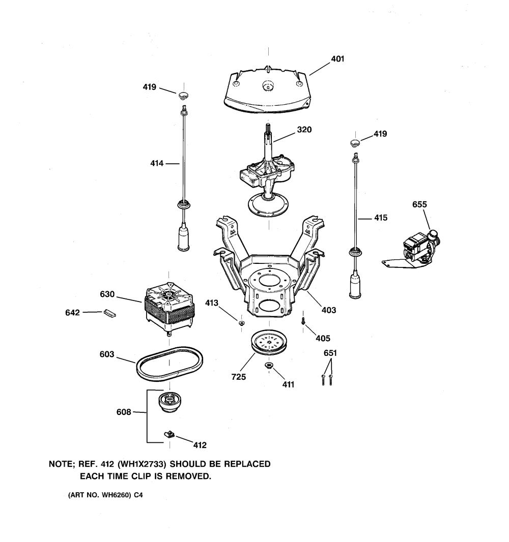 medium resolution of wnsb8060b0ww washer suspension pump drive components parts diagram