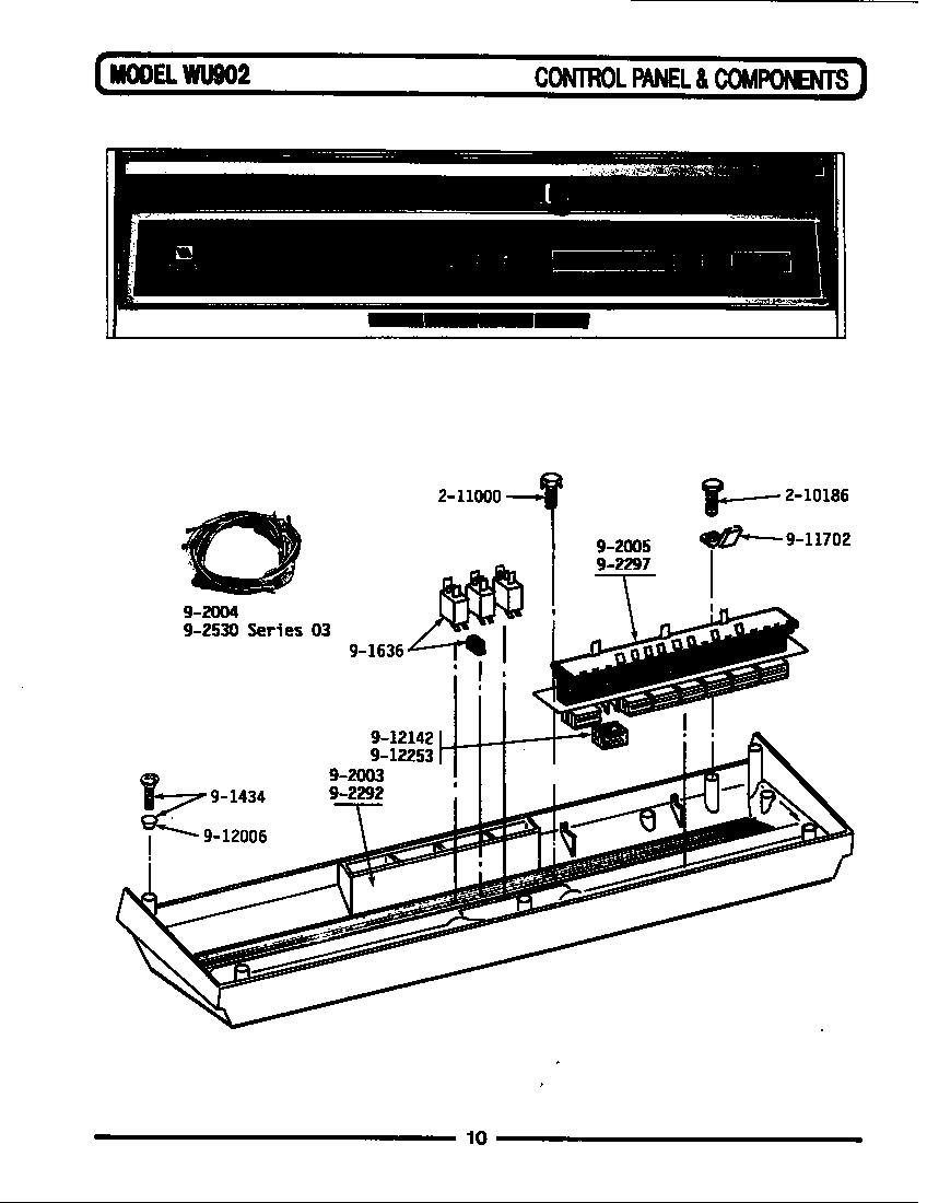 medium resolution of wu1000 dishwasher control panel components wu902 wu902 parts diagram
