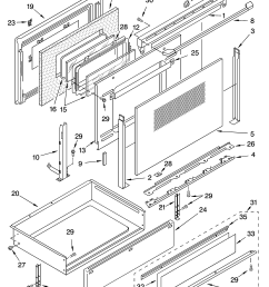 ykerc507hs4 free standing electric range door and drawer parts diagram oven chassis parts diagram [ 3348 x 4623 Pixel ]